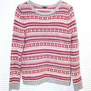 Talbots fair isle nordic lambswool sweater